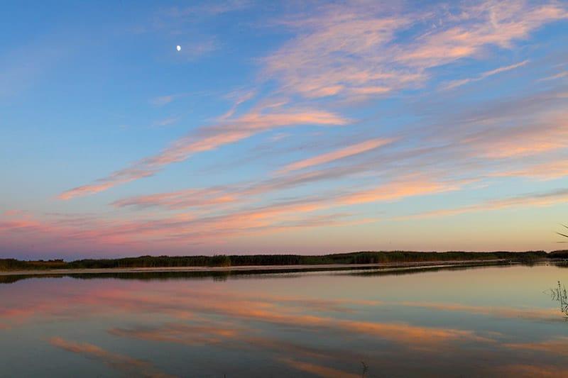 Sunset Over Main Lagoon