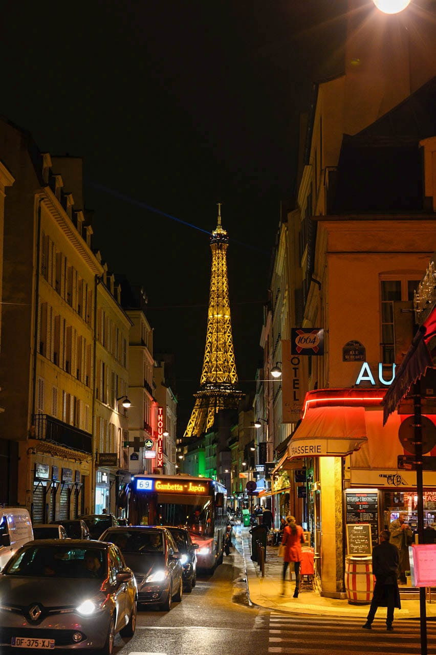 Upon Request Paris Street Photography City Street at Night