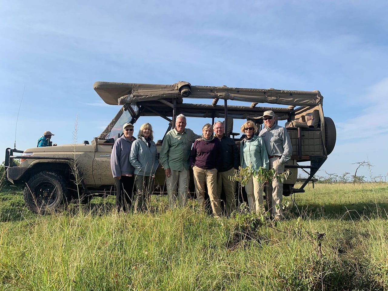 Jeff Wendoerff with Happy Safari Clients